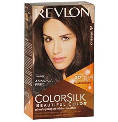 Revlon Colorsilk with 3D Technology 2N Hair Color  (Brown)