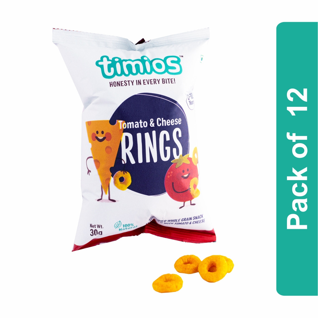 Timios Rings (Tomato & Cheese Kids Snacks)- Pack of 12