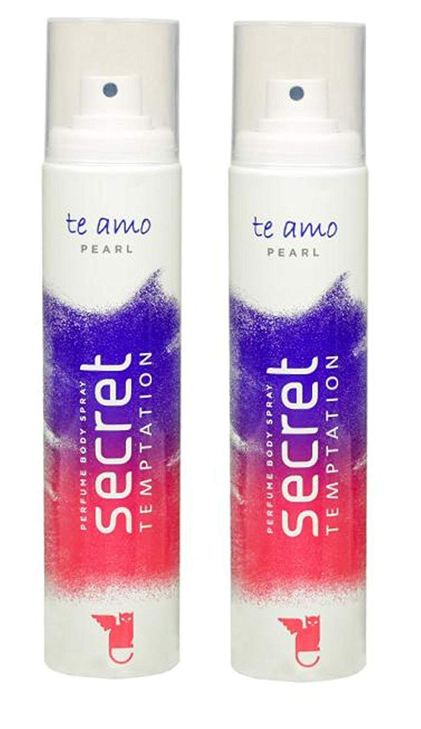 Secret Temptation Te Amo Pearl Perfume Body Spray-Pack OF 2