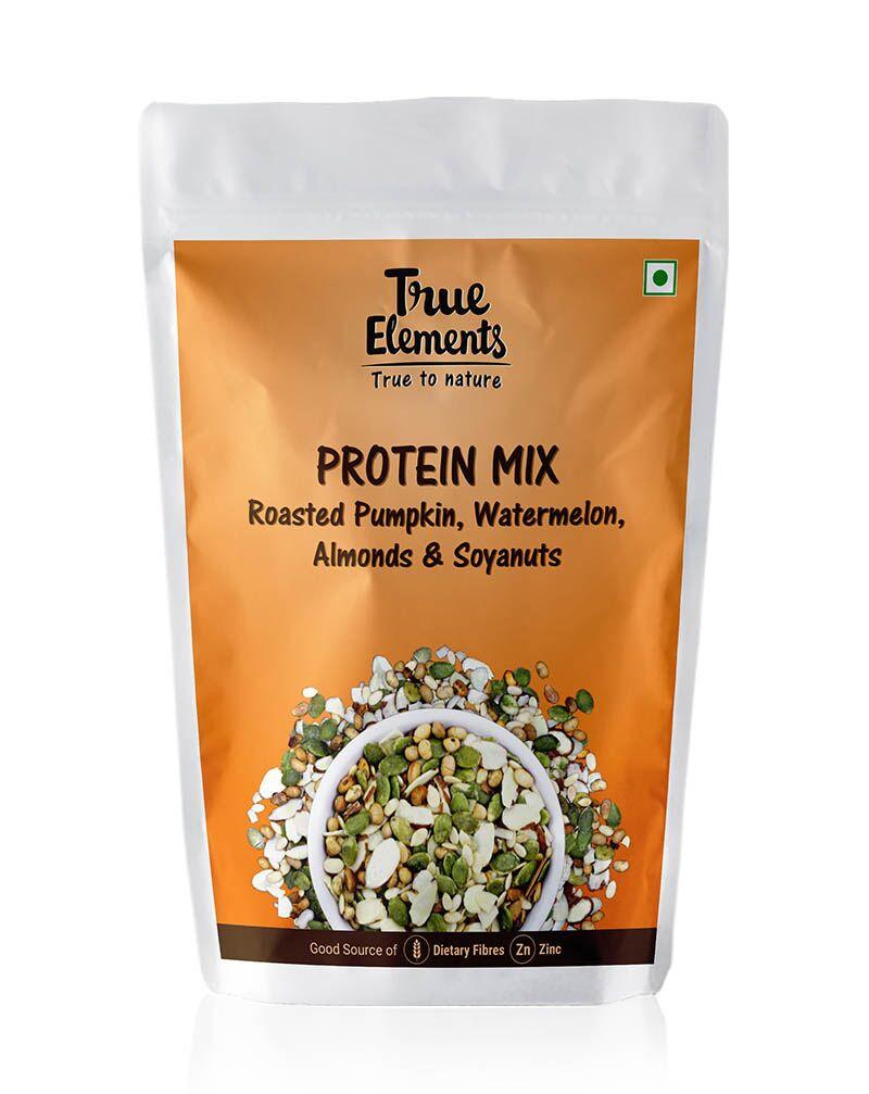 True Elements Protein Mix Roasted Pumpkin Watermelon Almonds & Soyanuts (125gm)