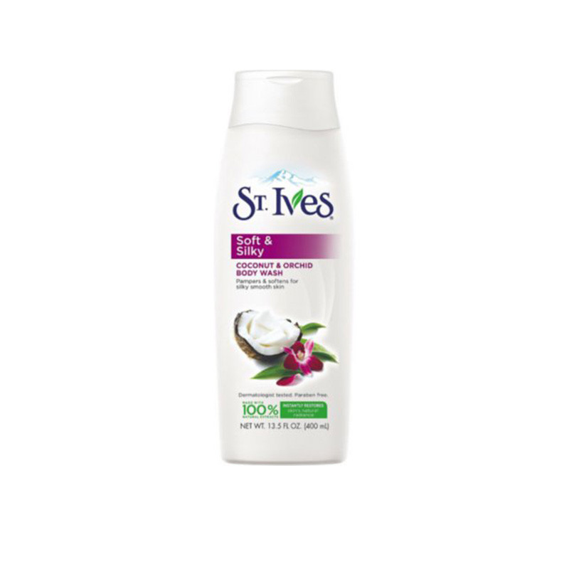St. Ives Imported Soft And Silky Body Wash 400ml