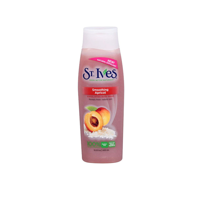 St. Ives Imported Smoothing Apricot Exfoliating Body Wash 400 Ml