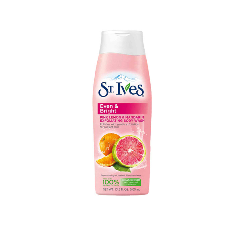 St. Ives Imported Even and Bright, Pink Lemon & Mandarin Body Wash (400ml)