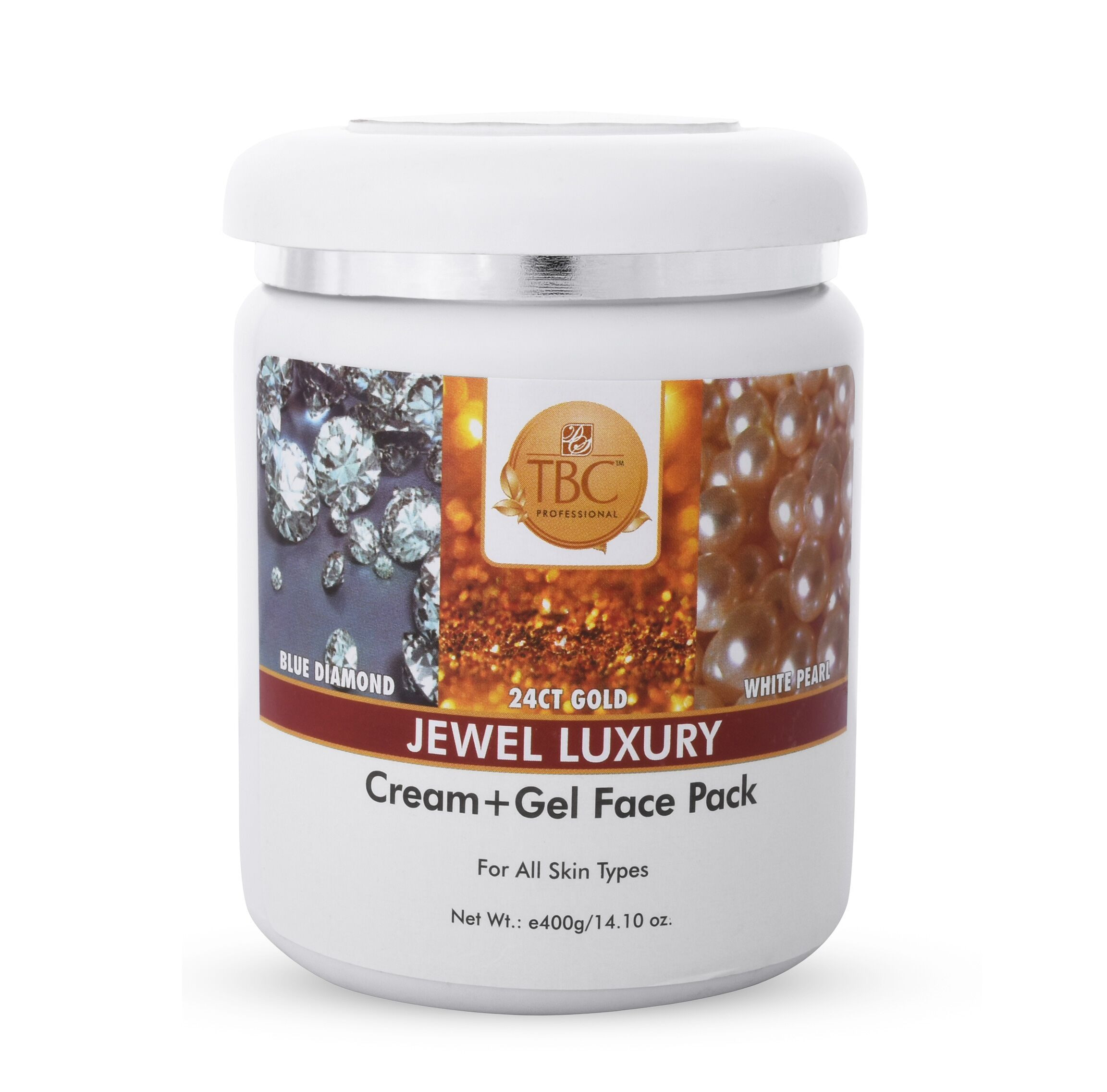 TBC Pro Organic Jewel Cream + Gel Face Pack 400gm