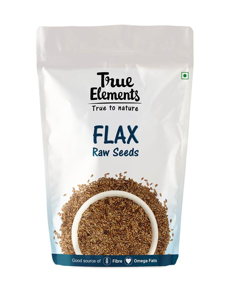 True Elements Raw Flax Seeds 250gm