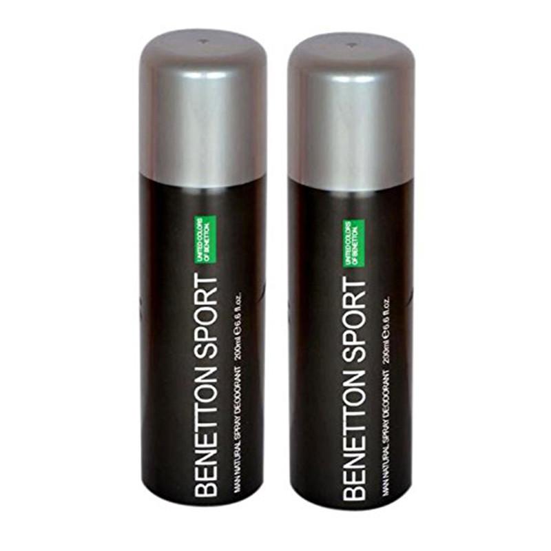 UCB Benetton Sport Deodorant 200Ml (Pack Of 2)