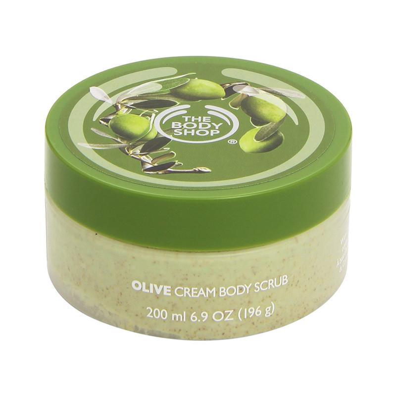 The Body Shop Body Scrub, Olive, 6.9 Ounce