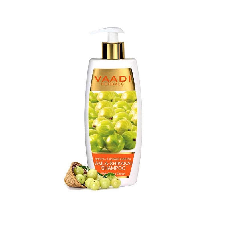 Vaadi Herbals Amla Shikakai Hairfall & Damage Control Shampoo (350 ml)