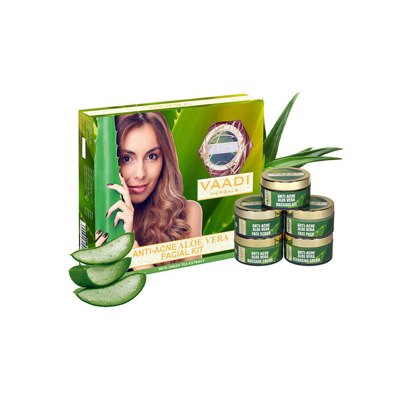 Vaadi Herbals Anti-Acne Aloe Vera Facial Kit With Green Tea Extract (270 g)