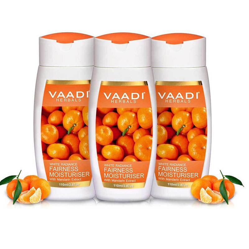 Vaadi Herbals Fairness Moisturiser with Mandarin Extract, 110ml x 3