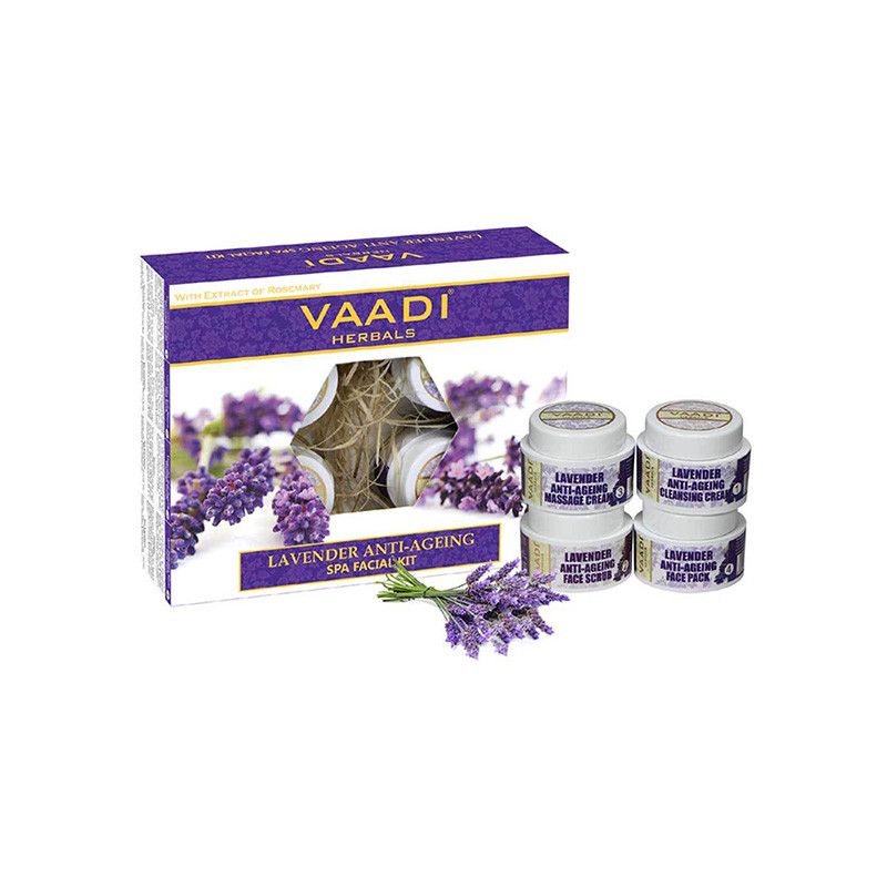 Vaadi Herbals Lavender Anti Ageing Spa Facial Kit (270 g)