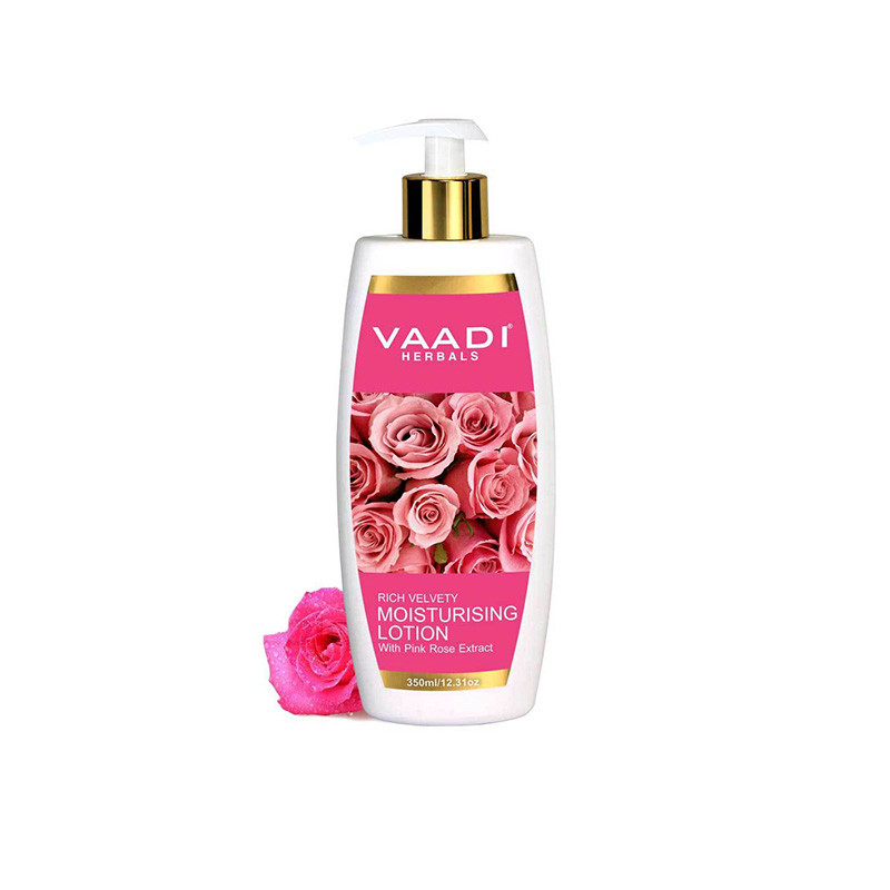 Vaadi Herbals Moisturising Lotion with Pink Rose Extract, 350 ml