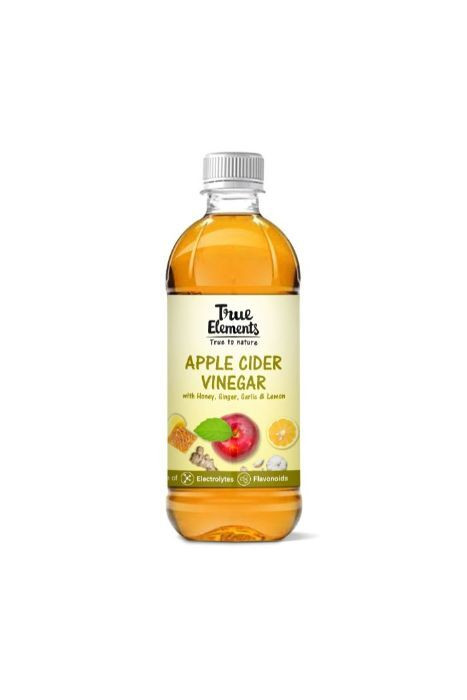 True Elements Apple Cider Vinegar With Honey Ginger Garlic And Lemon 500ml