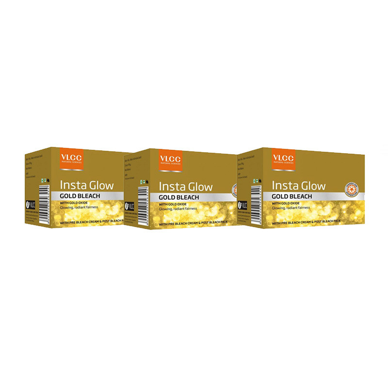 VLCC Natural Sciences Insta Glow Gold Bleach (30g) (pack of 3)