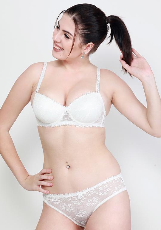 Makclan Charmer Cinderella Lace Snowflake White Lingerie Set