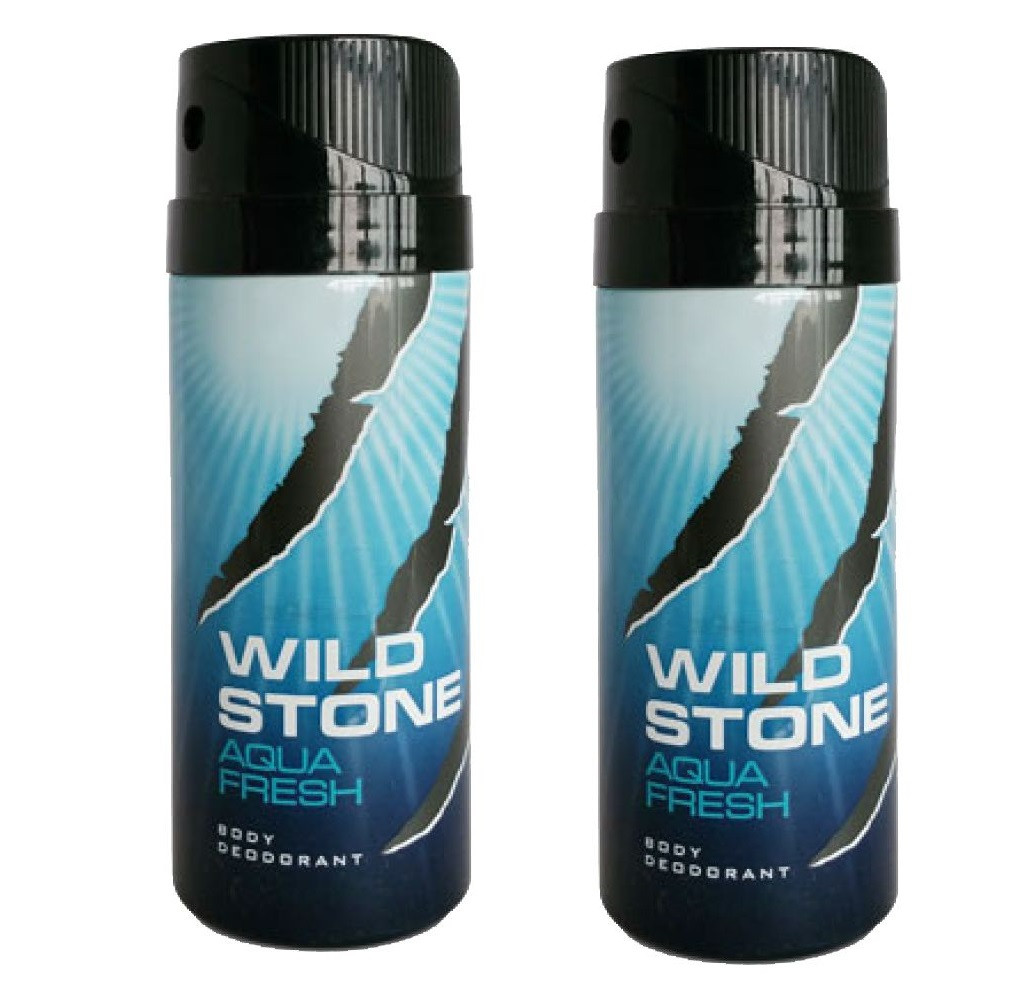 Wild Stone Aqua Fresh Body Deodorant 200ml - (Pack OF2)