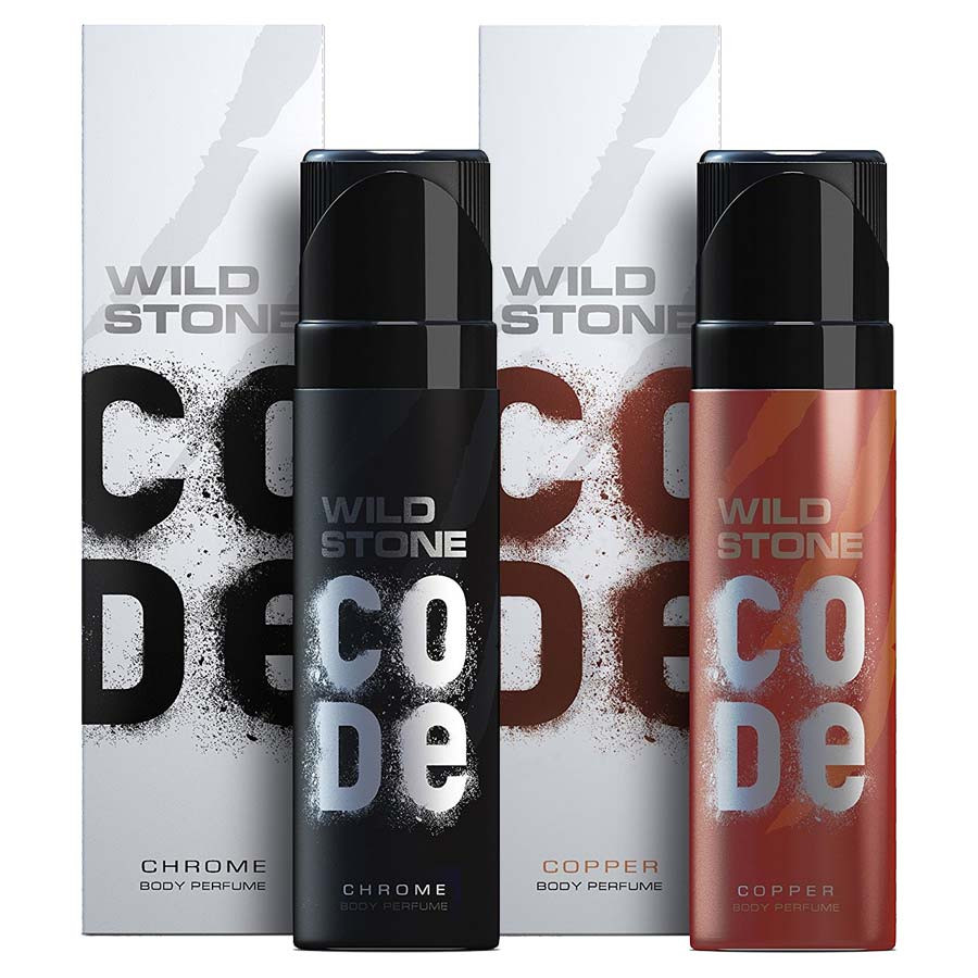 Wild Stone Chrome And Copper No Gas Deodorant (Pack Of 2)