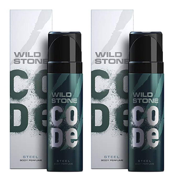 Wild Stone Code Steel Body Perfume Spray 120ml -(Pack OF 2)