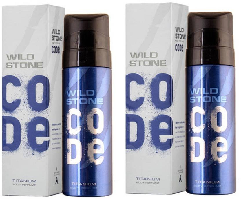 Wild Stone Code Titanium Body Perfume Spray 120ml -(Pack OF 2)