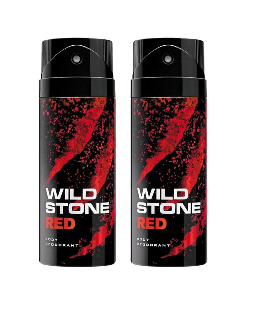 Wild Stone Red  Body Deodorant 150ml - (Pack OF2)