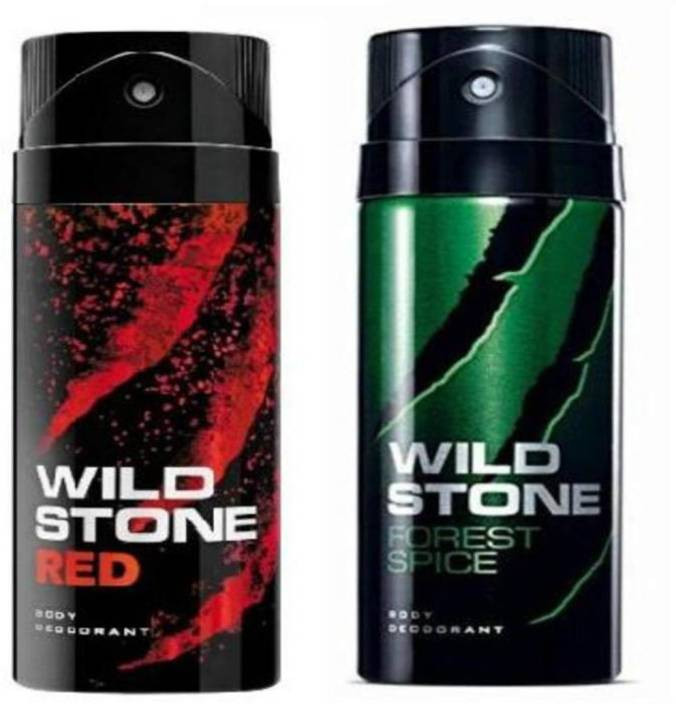 Wild Stone Red And Forest Spice Body Spray (Pack OF 2)