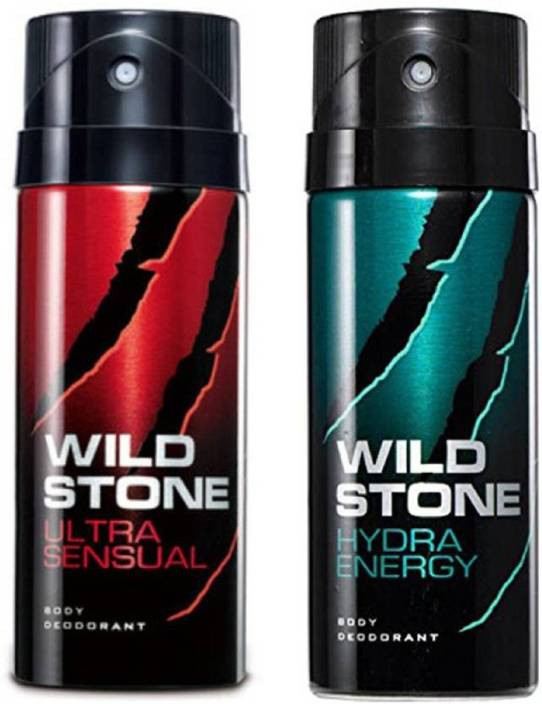Wild Stone Ultra Sensual and Hydra Energy Body Spray(Pack of 2)