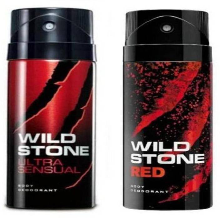 Wild Stone Ultra Sensual And Red Body Spray (Pack OF 2)