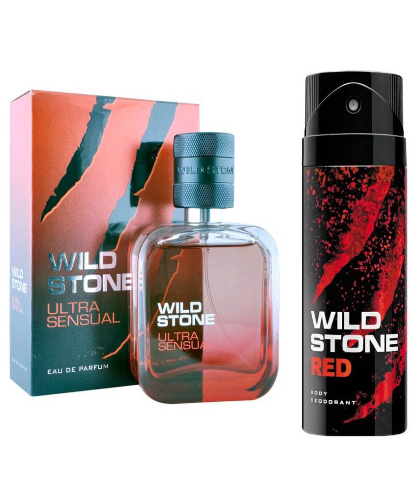Wild Stone Ultra Sensual Perfume 50ml And Red Deodorant 150ml