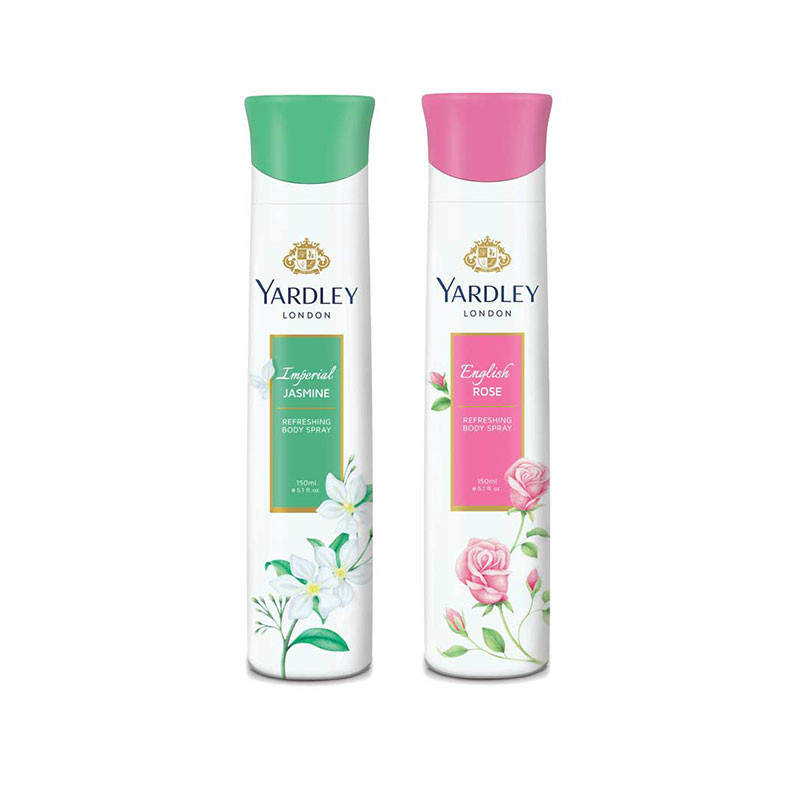Yardley  English Rose, Jasmine (Pack of 2) Deo For Women 150 ml
