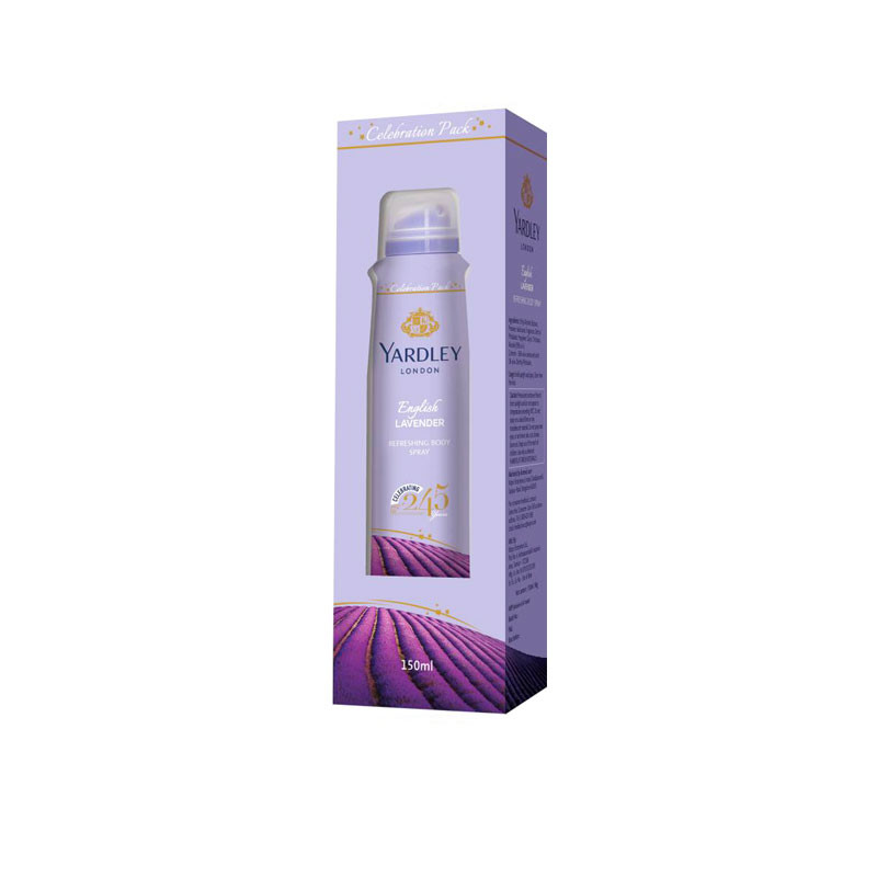 Yardley English Lavender Refreshing Body Spray 150ml For Women