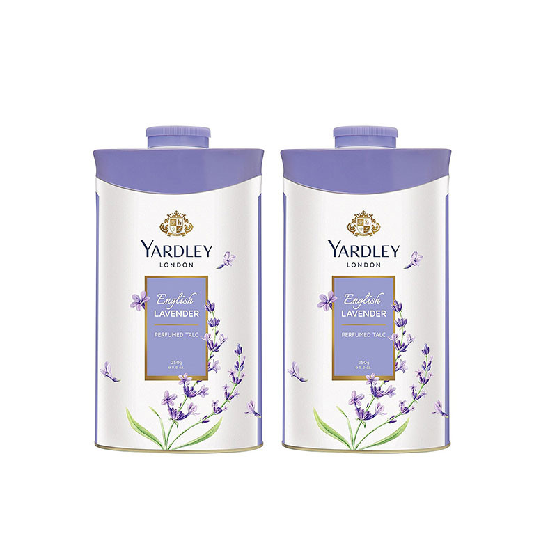 Yardley London English Lavender Perfumed Talc 250g (Pack of 2) For Women