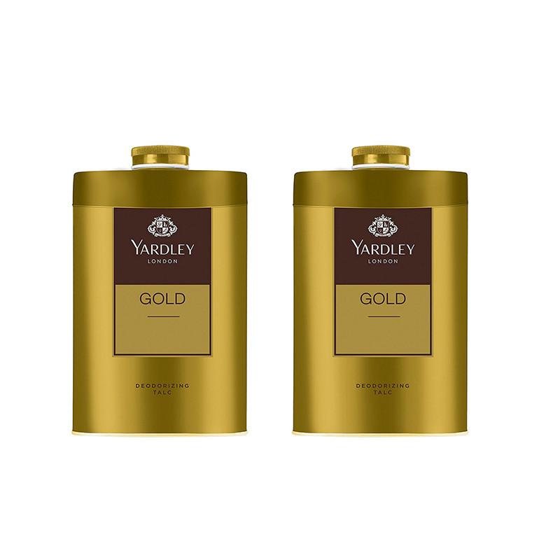 Yardley London Gold Deodorizing Talc for Men, 250g (Pack of 2)