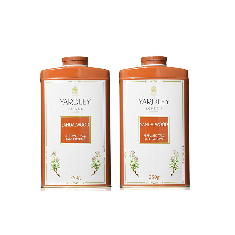 Yardley London Imperial Sandalwood Talc 250g (Pack of 2) For Women