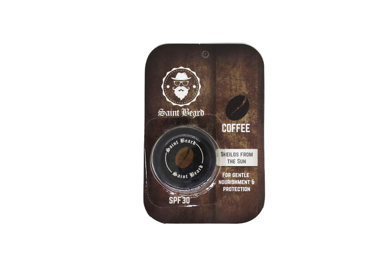 Saint Beard Lip Balm - Coffee Flavour 8 - SPF30 -For Added Sun Protection 8gm