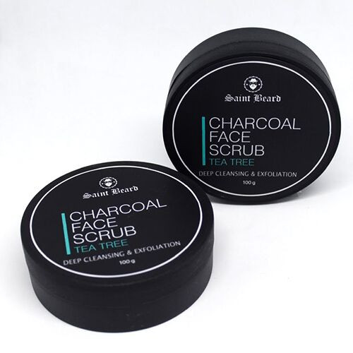 Saint Beard - Activated Charcoal Scrub - Purifies and Detoxifies your Skin 100gm