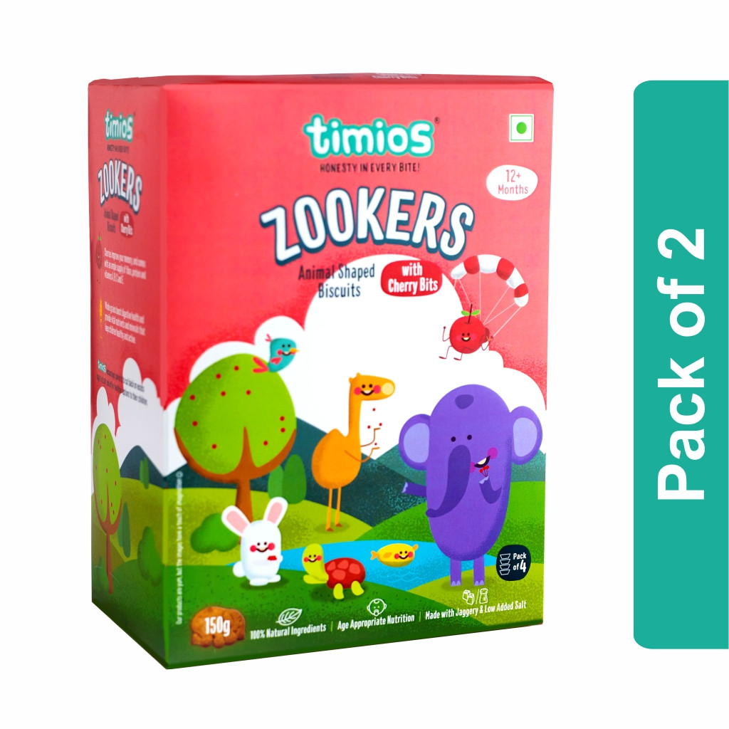 Timios Zookers (Cherry Bits)- Pack of 2