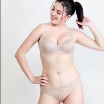 Makclan Charmer Cinderella Sand Dune Nude Lace Lingerie Set