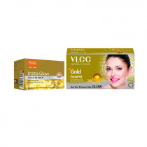 VLCC Herbals Vlcc Gold Facial Kit and Bleach Cream (60gm+60gm)