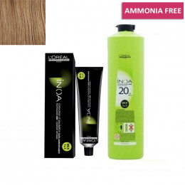 L'Oreal Professionnel Inoa Hair Tubes*No 6 Dark Blonde 60g and 1 Inoa Developer 20 Vol (6%) 1000 Ml