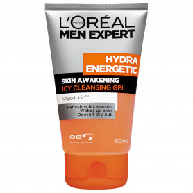 L'Oreal Paris Men Expert Hydra Energetic Skin Awakening Icy Cleansing Gel Face Wash  (100 ml)