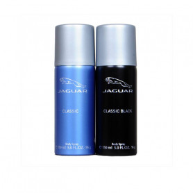 Jaguar classic blue,classic black Deodorant Spray - For Men & Women  (150 ml, Pack of 2)
