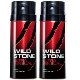 Wild Stone Ultra Sensual Body Deodorant 200ml - (Pack OF2)