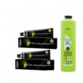 Loreal Professionnel Inoa Hair Colour Tubes-2 Tubes*No 3 (Dark Brown) And 1 Pc Of Inoa Developer 20 Vol (6%) 1000 Ml