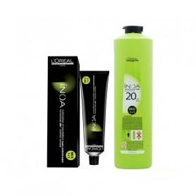 L'Oreal Professionnel Inoa Hair Tubes*No-4.35 (Golden Mahogany Brown ) 60g and 1 Inoa Developer 20 Vol (6%) 1000 Ml