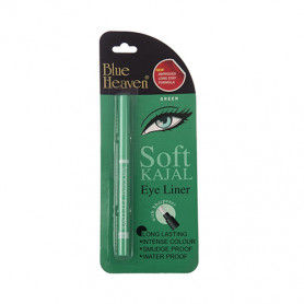 Blue Heaven Soft Kajal Eyeliner, Green, 0.31g