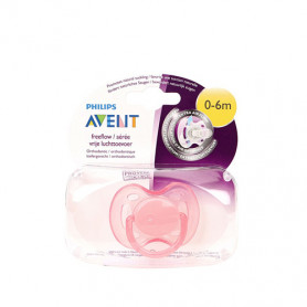 Philips Avent Freeflow Pacifiers Soother 0-6M Pink
