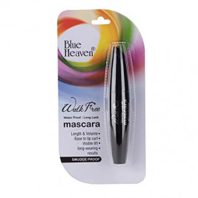Blue Heaven Walk Free Mascara (Water Proof - Long Lash) Black Pack (12 ML)