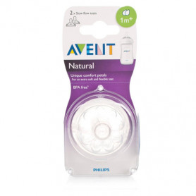 Philips Avent Natural Nipples (1M+) Twin Pack- (2Pc.Pack)