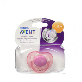 Philips Avent Freeflow Pacifiers Soother 6-18m Pink