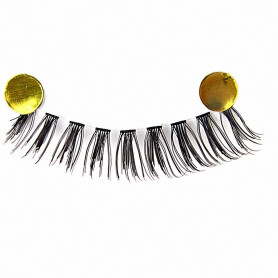 Black-#01 : MapofBeauty 10 Pairs Handmade Soft Makeup False Eye Lashes (Black-#01)